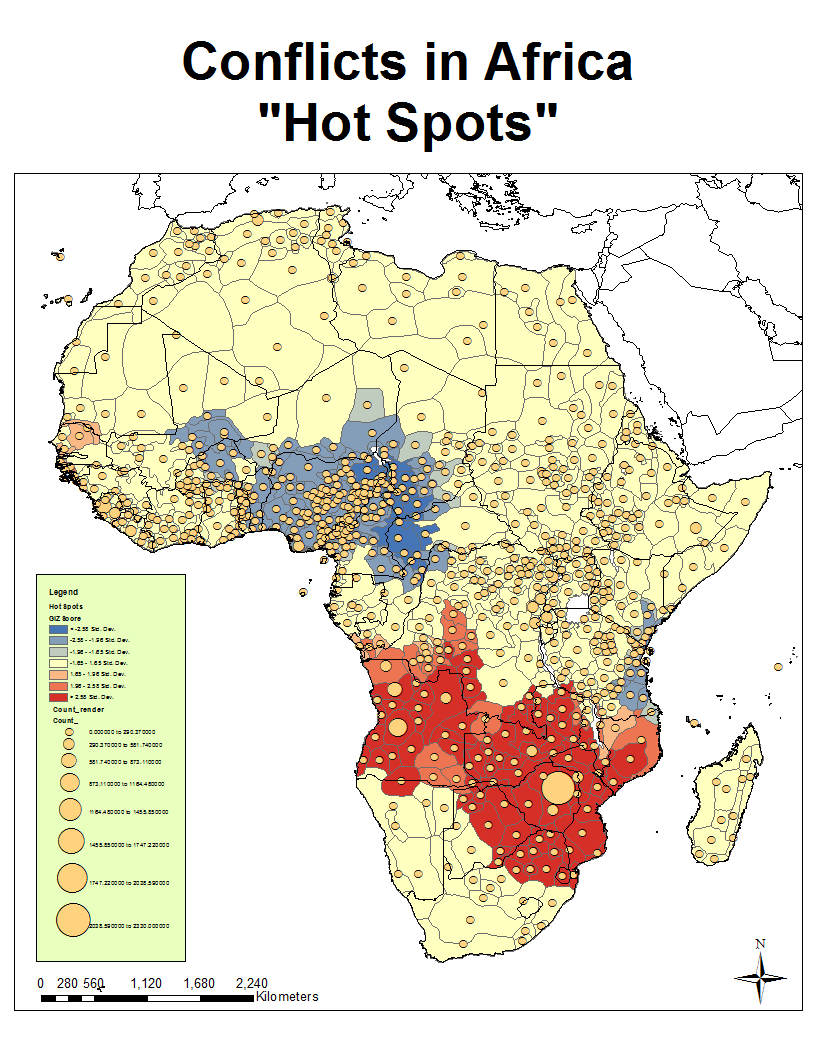 A Geo-spatial look at African conflict